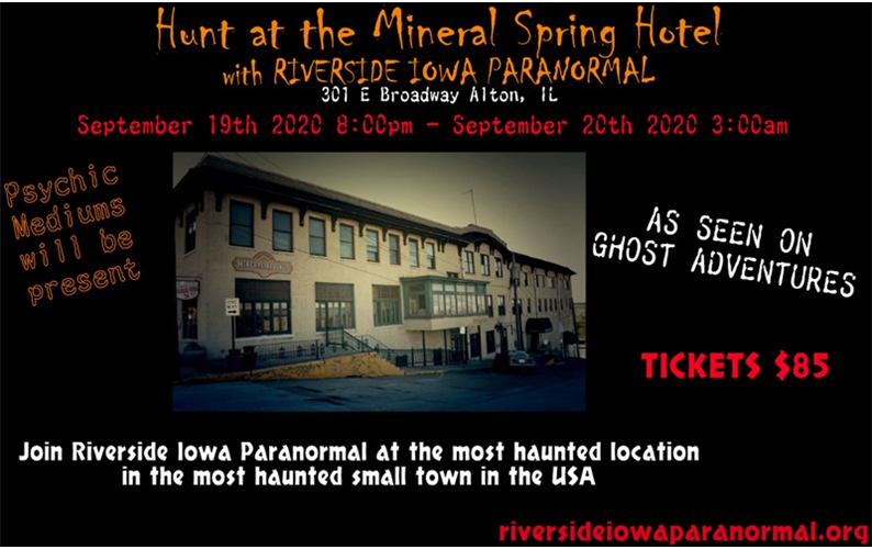 9/19/20: Hunt at the Mineral Spring Hotel