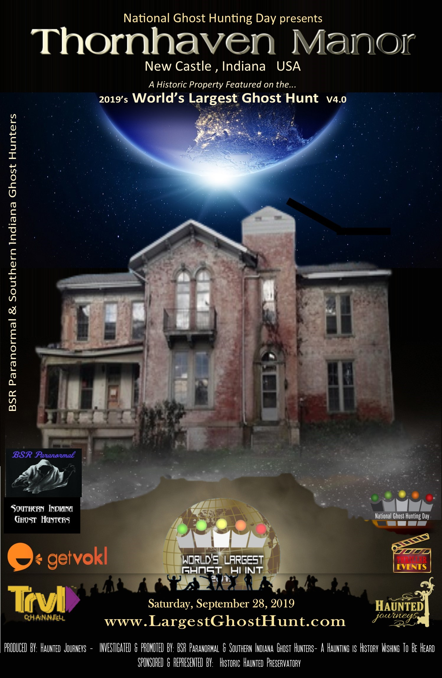 World's Largest Ghost Hunt at Thornhaven Manor - Buy tickets