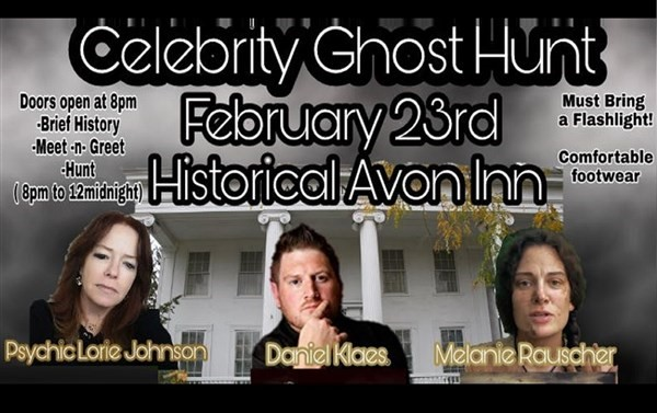 Get Information and buy tickets to Ghost Hunt with Celebrities at the Avon Inn Hosted by Paratalkradio on Thriller Events