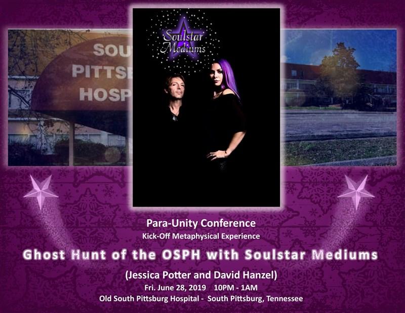 Get Information and buy tickets to Ghost Hunt of Old South Pittsburg Hospital Led by Soulstar Mediums on Thriller Events