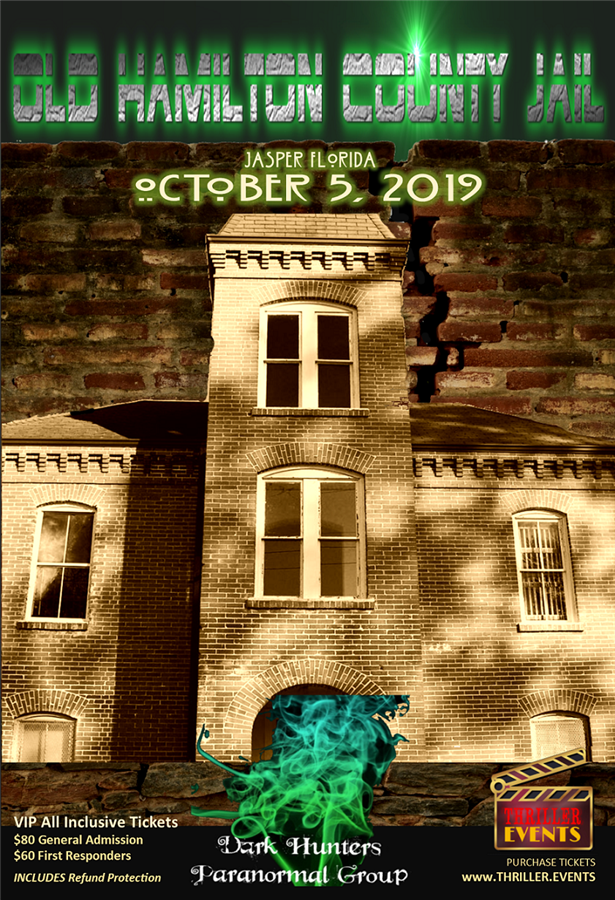 Get Information and buy tickets to Old Hamilton County Jail Overnight Ghost Hunt Dark Hunters Paranormal Group on Thriller Events