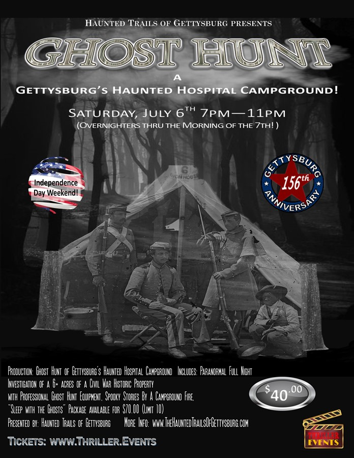 Get Information and buy tickets to Ghost Hunt - Gettysburg Battle