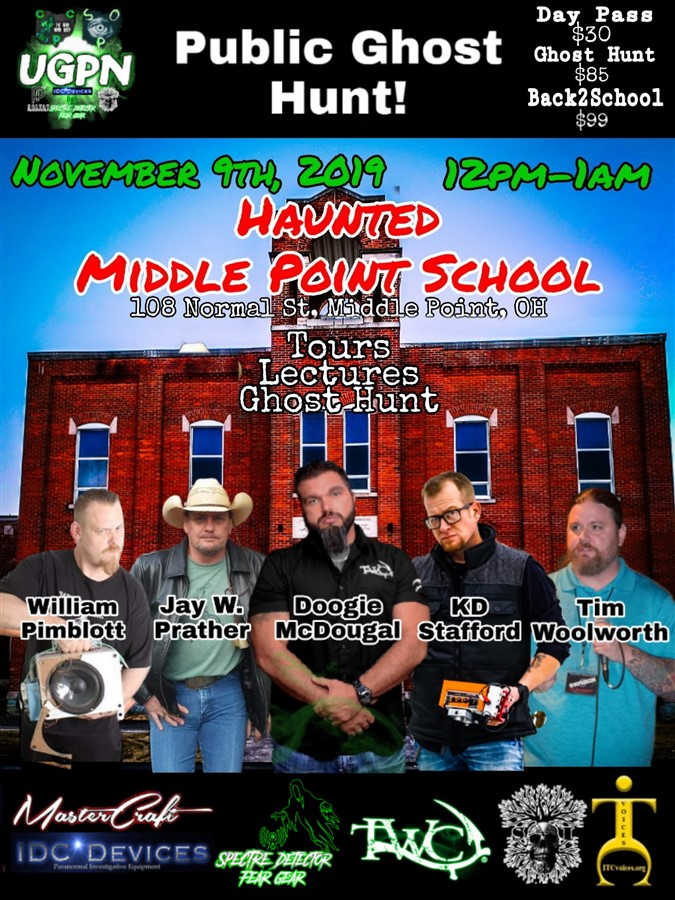 Get Information and buy tickets to TWC Investigates the Middle Point School First Time Public Investigation! on Thriller Events