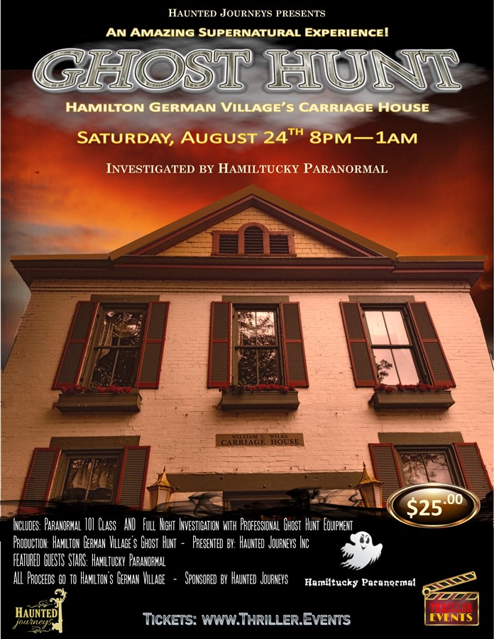 Get Information and buy tickets to 8/24: Ghost Hunt: German Village