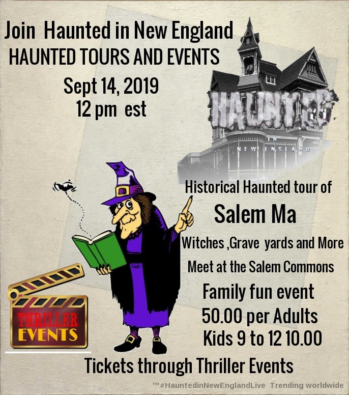 Get Information and buy tickets to Witches Journey Historical Tour of Salem Haunted New England on Thriller Events