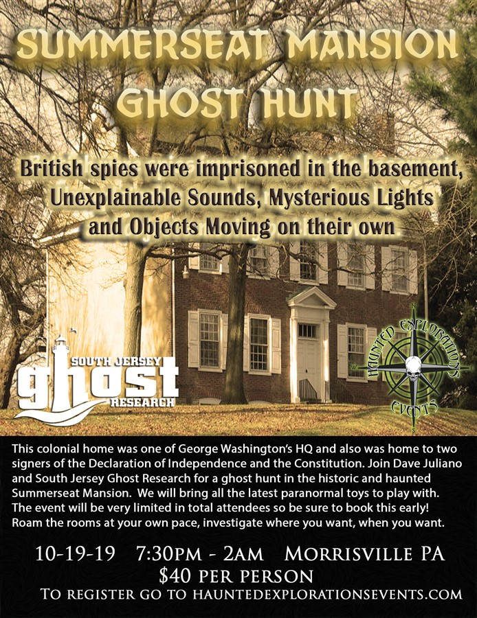 Ghost Hunt At Summerseat Mansion