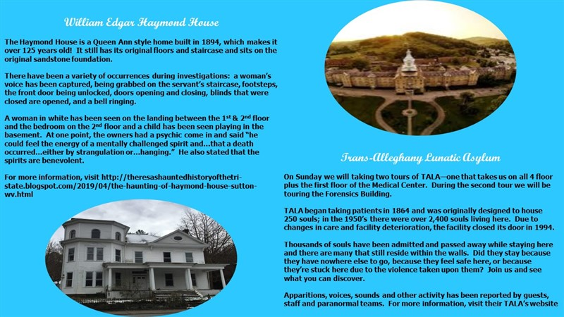 The Haymond House Investigation & TALA Daytime Tours