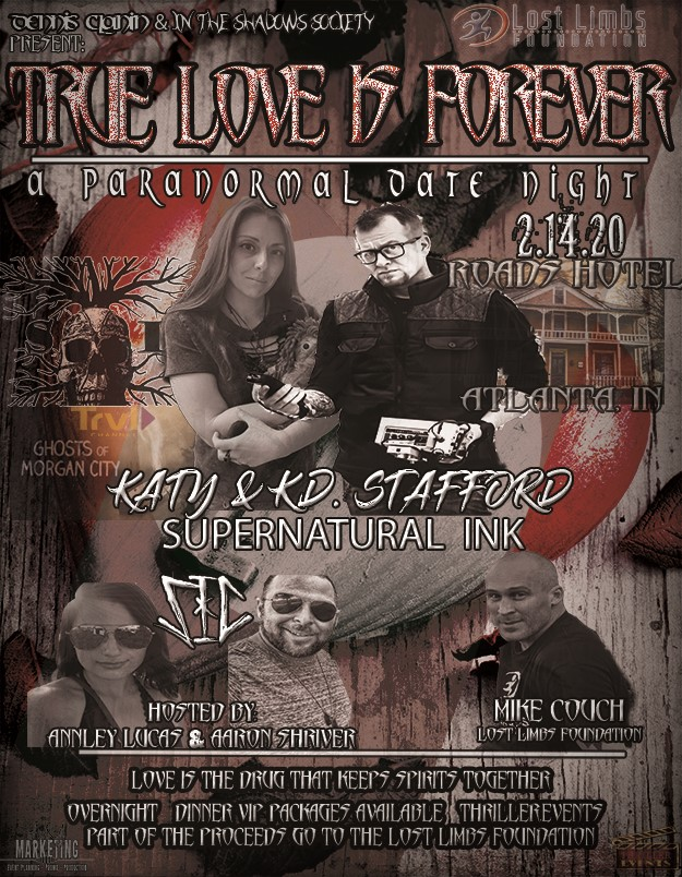 "Get Information and buy tickets to SIC Presents ""True Love Is Forever"" A Paranormal Date Night on Thriller Events"