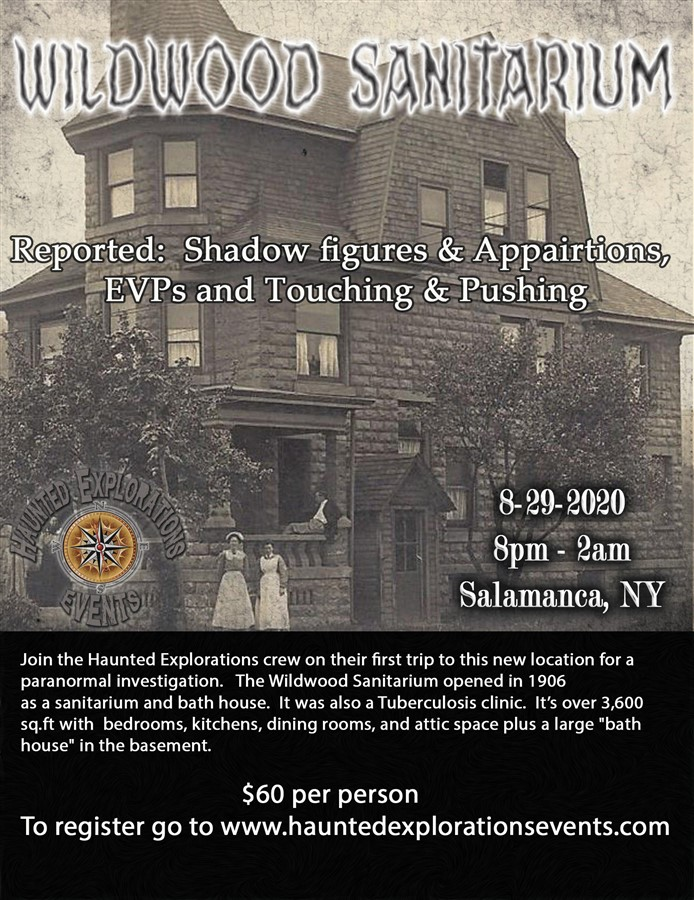 Get Information and buy tickets to Investigate The Wildwood Sanitarium  on Thriller Events