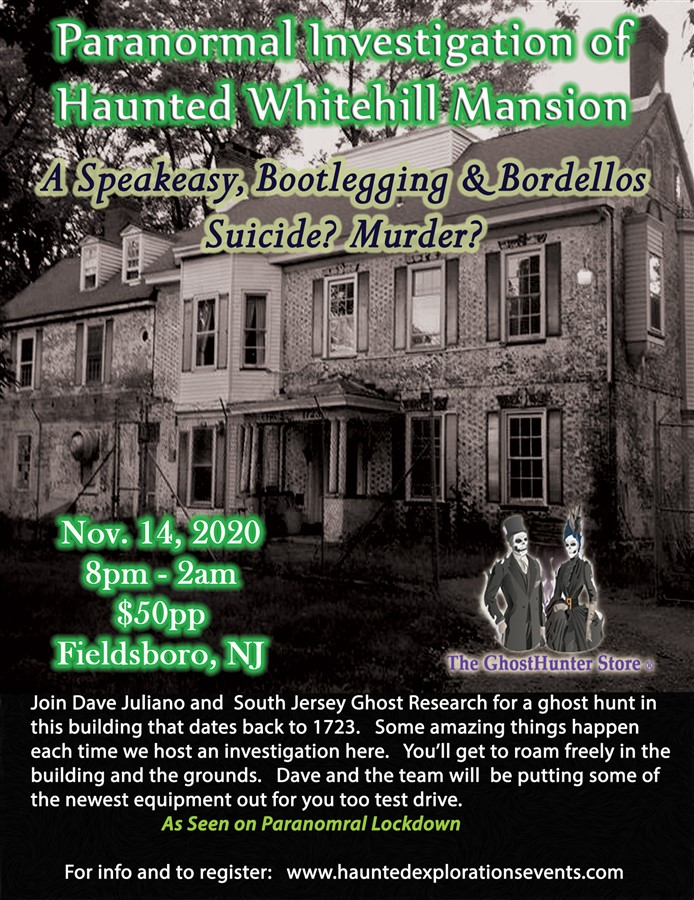 Investigate Whitehill Mansion with Dave Juliano