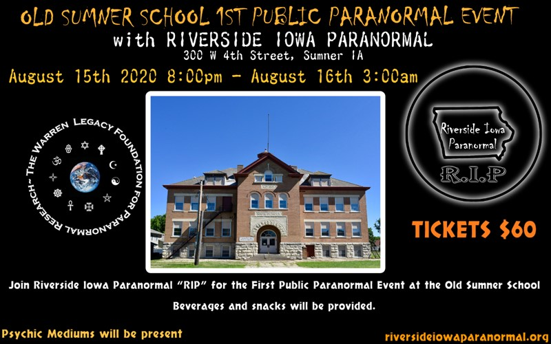 OLD SUMNER SCHOOL 1ST PARANORMAL EVENT
