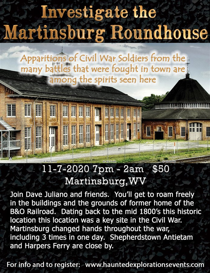 Get Information and buy tickets to Investigate The Martinsburg Roundhouse  on Thriller Events