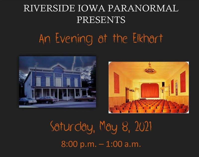 Get Information and buy tickets to Evening at the Elkhart Civic Theatre With Riverside Iowa Paranormal on Thriller Events