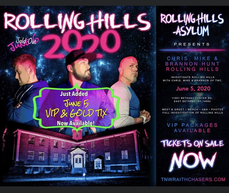 Get Information and buy tickets to The Guys of Tennessee Wraith Chasers - VIP! At Rolling Hills Asylum on Thriller Events