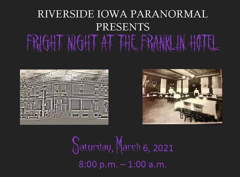 Get Information and buy tickets to Fright Night At The Franklin  on Thriller Events