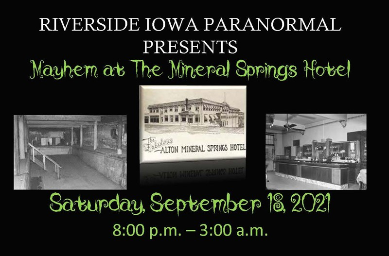 Get Information and buy tickets to Mayhem at the Mineral Springs Hotel  on Thriller Events