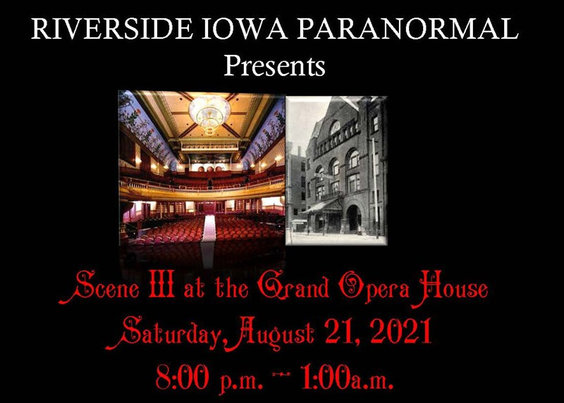 Scene III at the Grand Opera House