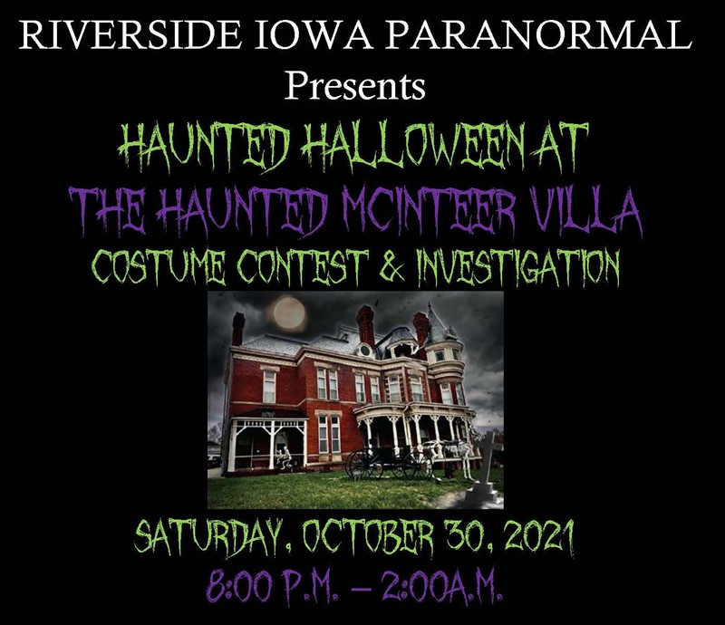Get Information and buy tickets to HAUNTED HALLOWEEN AT THE HAUNTED MCINTEER VILLA Costume Contest and Investigation on Thriller Events