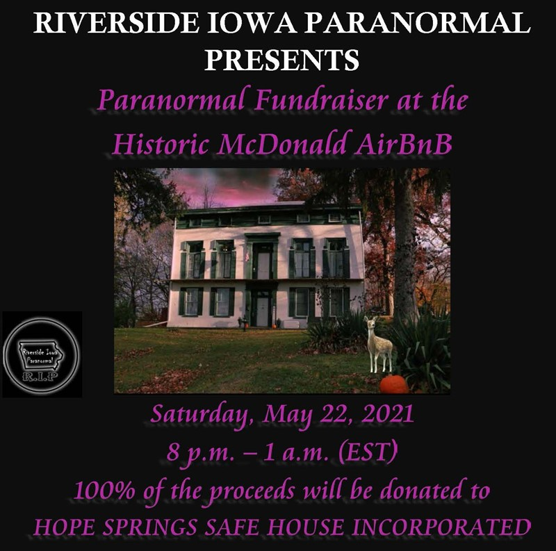 Paranormal Fundraiser at the Historic McDonald Airbnb