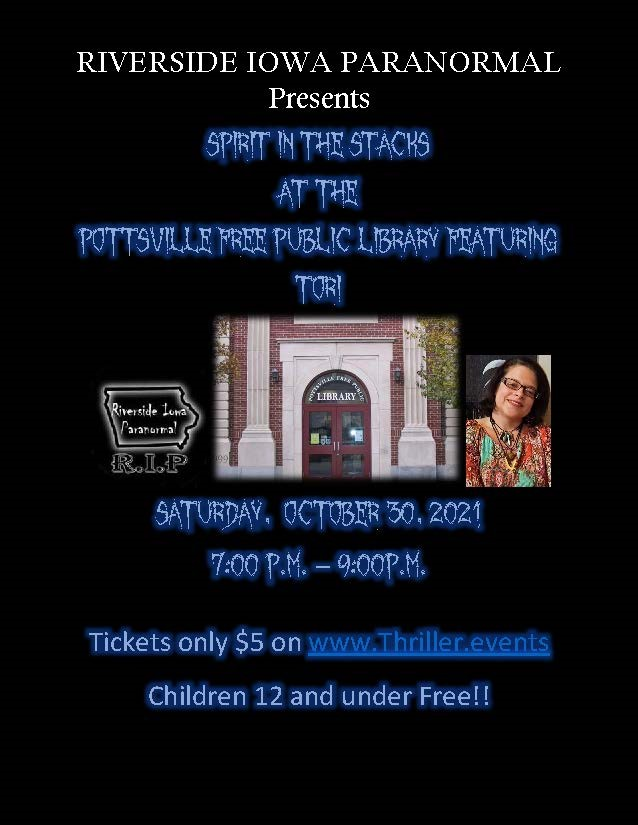 Get Information and buy tickets to Spirit in the Stacks  on Thriller Events