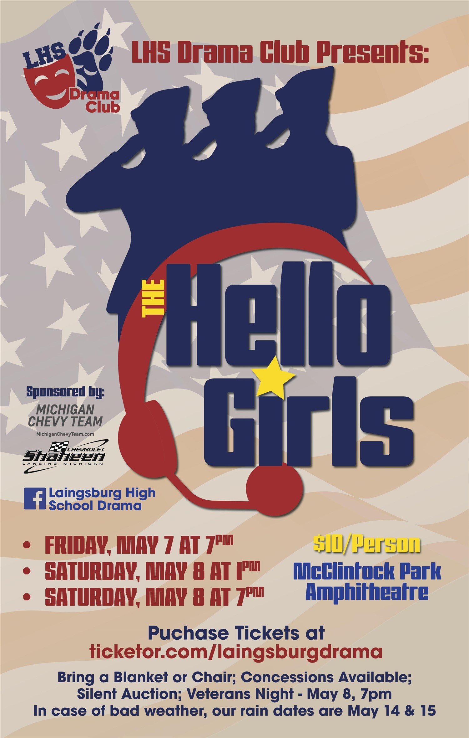 The Hello Girls Laingsburg High School Drama Program on May 08, 13:00@McClintock Amphitheater - Buy tickets and Get information on Laingsburg High School