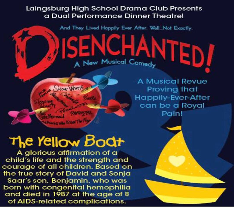 Get Information and buy tickets to Laingsburg High School Dinner Theatre Disenchanted and Yellow Boat on Laingsburg High School