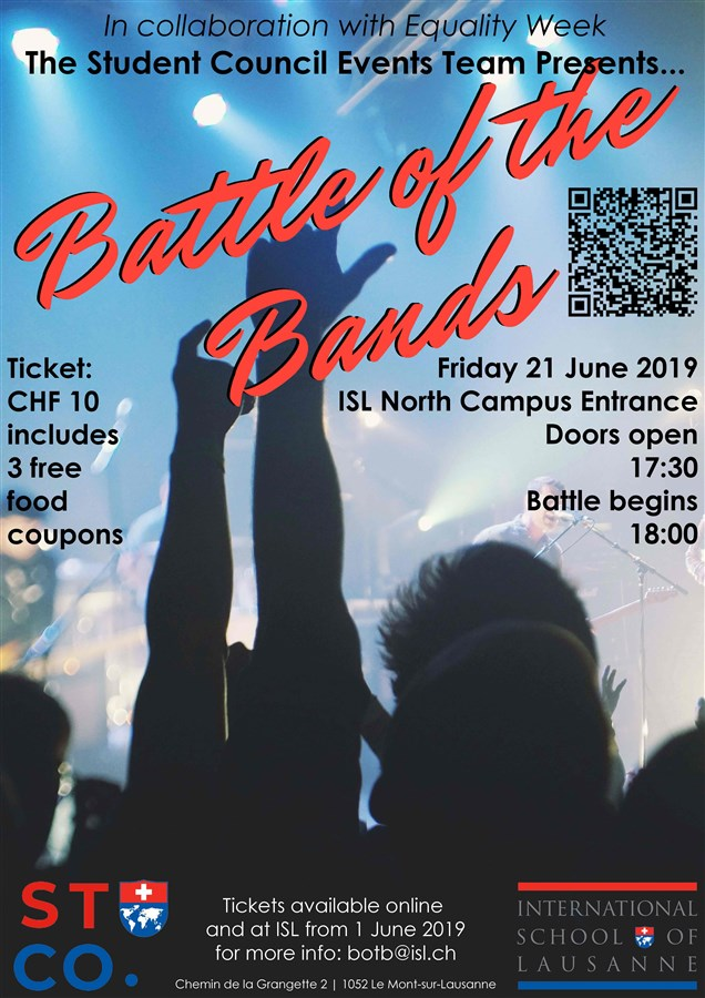 Get Information and buy tickets to Battle of the Bands  on https://www.isl.ch