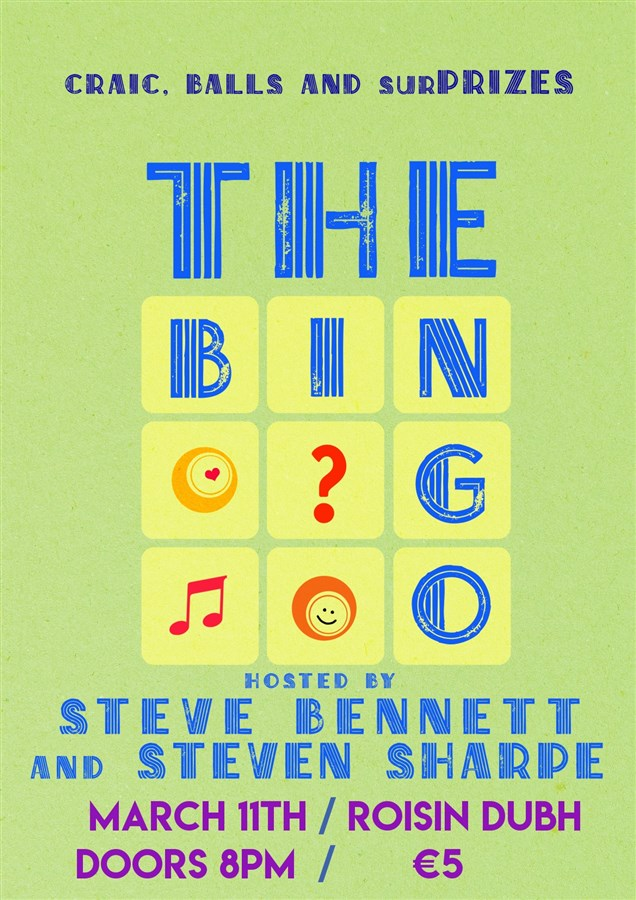 Get Information and buy tickets to The Bingo Steve Bennett & Steven Sharpe on www.stevebennettcomedy.com