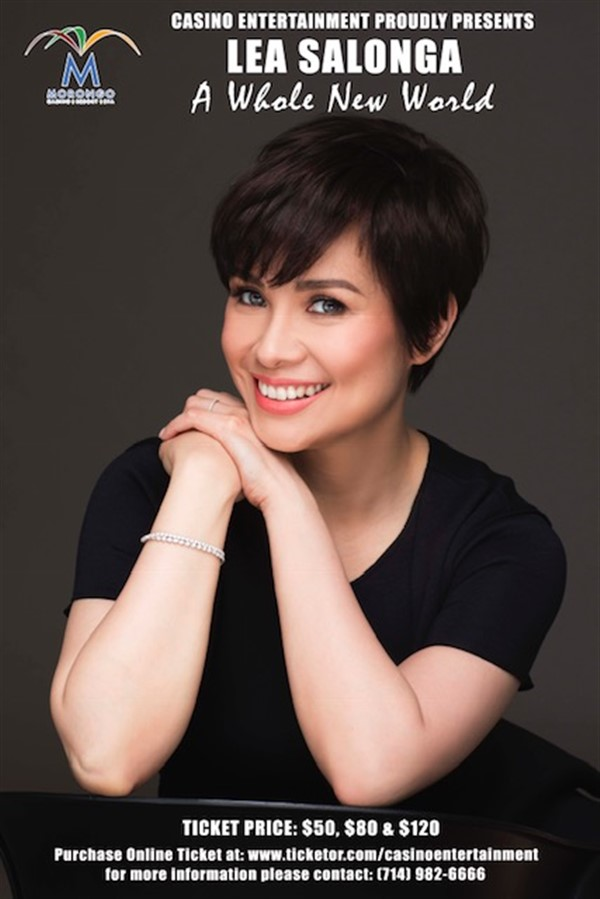 Get Information and buy tickets to LEA SALONGA A Whole New World on www.casinoentertainment.shop