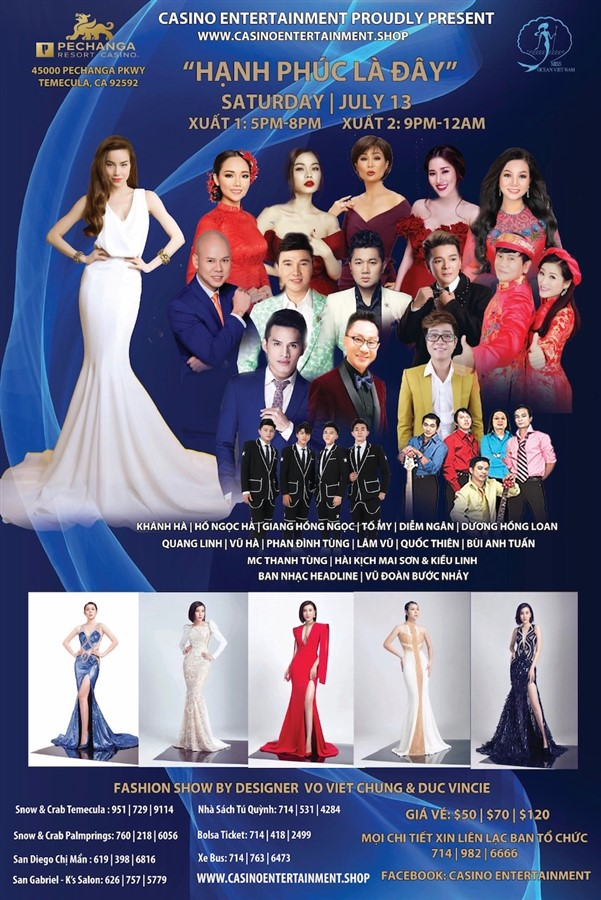 Get Information and buy tickets to Miss Ocean Vietnam Fashion Show with Ho Ngoc Ha - 9PM SHOW 9PM SHOW on www.casinoentertainment.shop