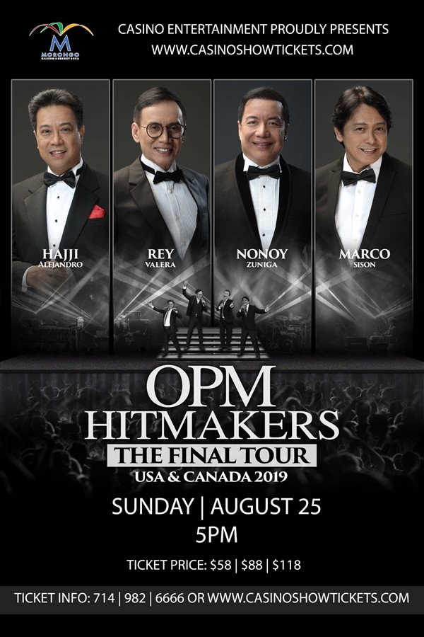 Get Information and buy tickets to OPM HITMAKERS THE FINAL TOUR  on www.casinoentertainment.shop
