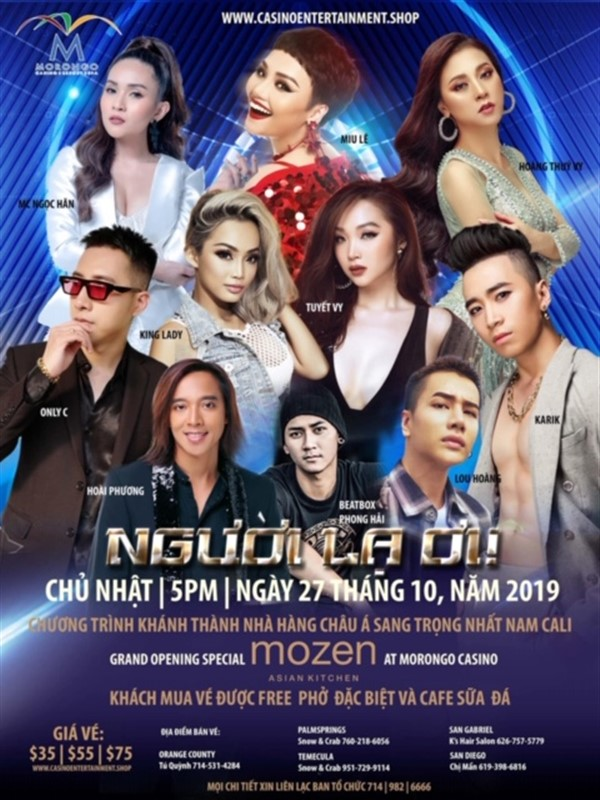 Get Information and buy tickets to Người Lạ Ơi | Mozen Grand Opening Concert at Morongo Casino Resort & Spa on www.casinoentertainment.shop