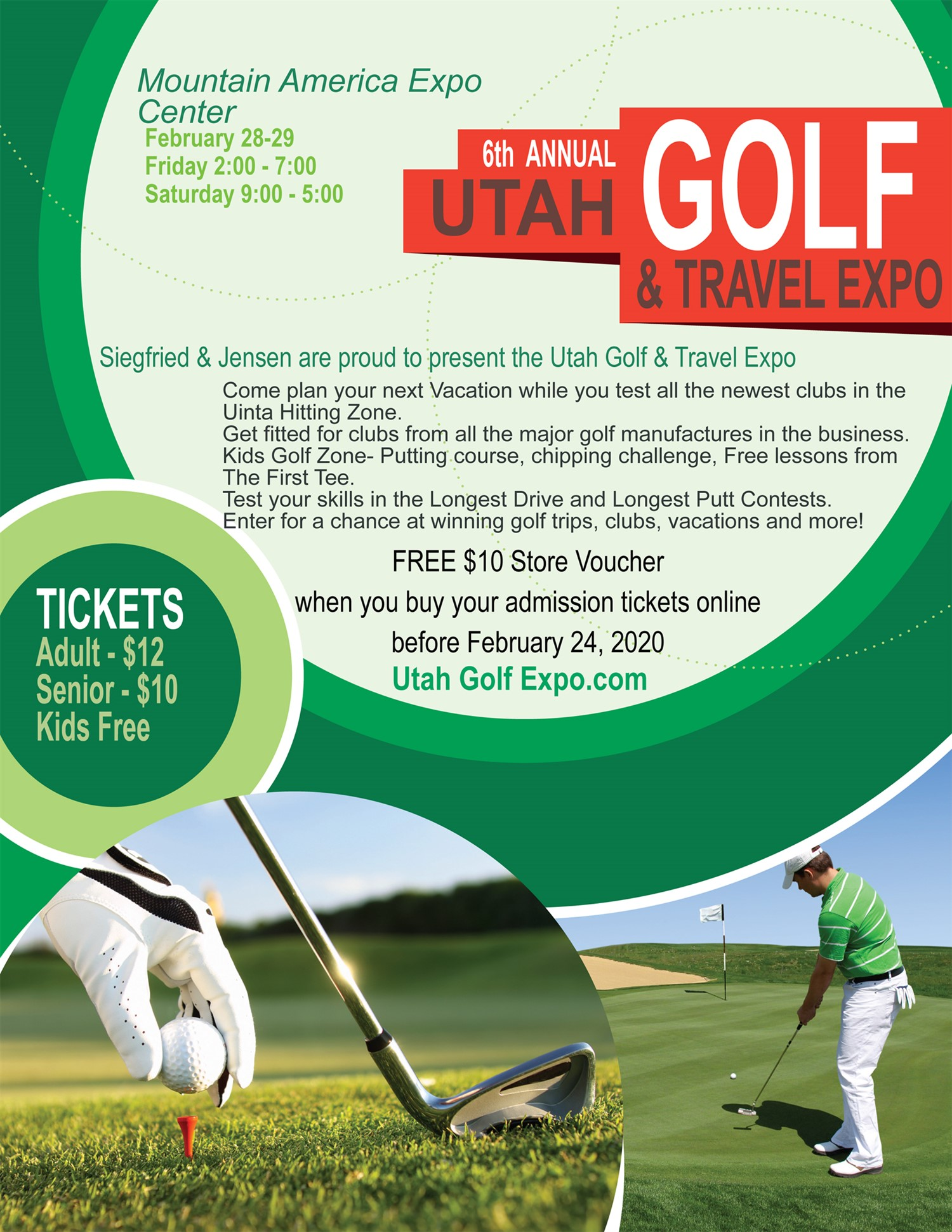 Utah Golf and Travel Expo 2020  on Feb 28, 14:00@Mountain America Expo Center - Buy tickets and Get information on www.utahgolfexpo.com
