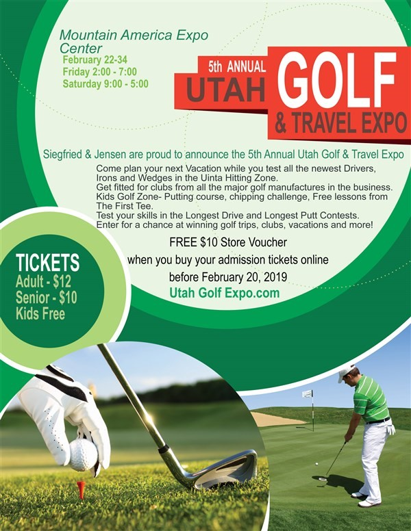 Get Information and buy tickets to Utah Golf and Travel Expo  on Ticketor