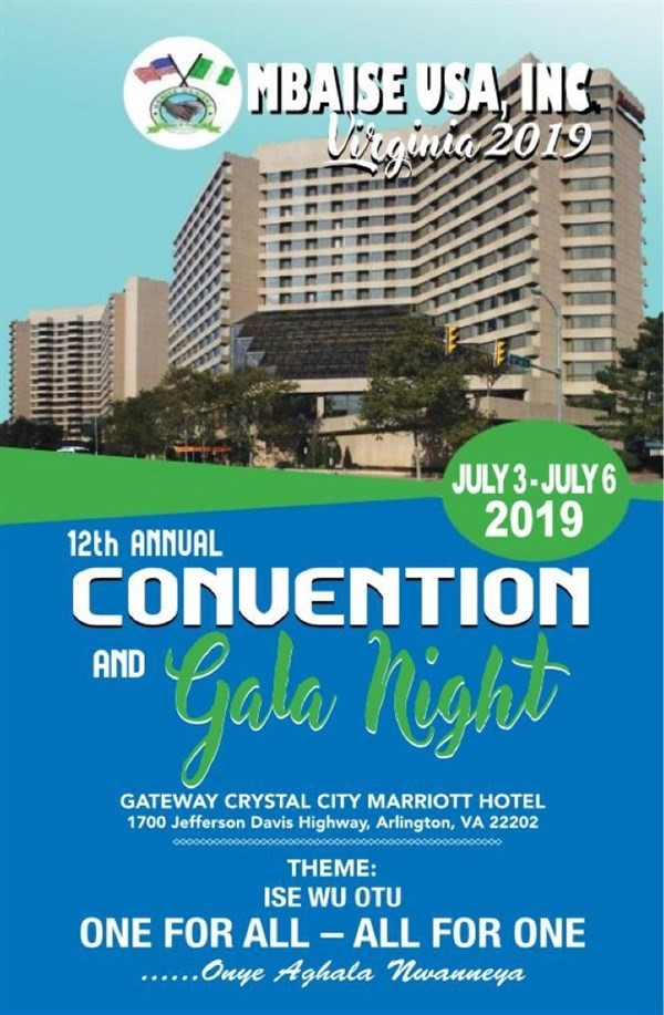 Mbaise USA 12th Annual Convention, Arlington, Virginia 2019.