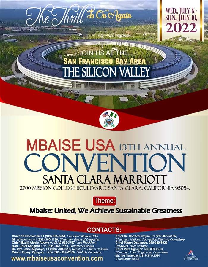 Get Information and buy tickets to MBAISE USA 13TH ANNUAL CONVENTION Northern California on mbaiseusaconvention.com