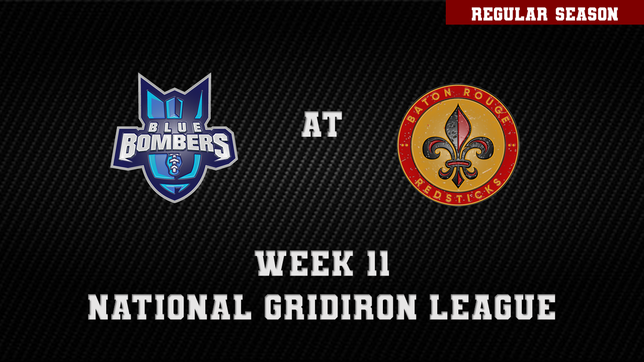 INDIANA BLUE BOMBERS AT BATON ROUGE REDSTICKS  on May 22, 19:00@Memorial Stadium - Pick a seat, Buy tickets and Get information on ngltickets.com