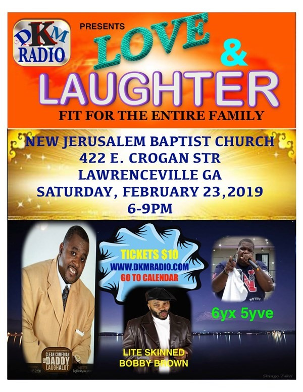 Get Information and buy tickets to Love & Laughter  on DKM MEDIA & ASSOCIATES
