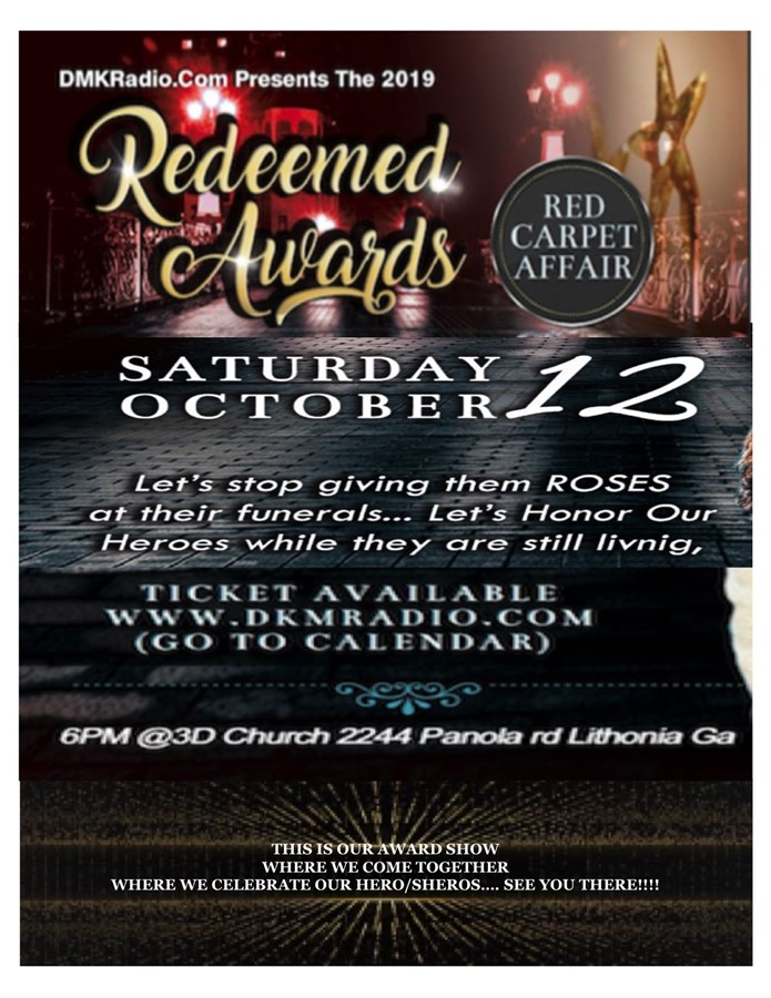 Get Information and buy tickets to Redeeemed Awards Lets Celebrate our Heros on DKM MEDIA & ASSOCIATES