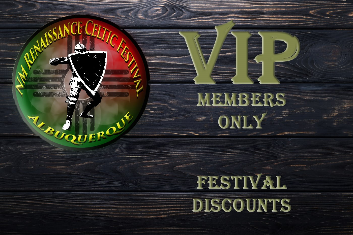 Festival VIP VIP weekend Passes for 2, with food and drink discounts on Mar 27, 10:00@Expo NM state fairgrounds - Buy tickets and Get information on NM Renaissance Celtic Festival