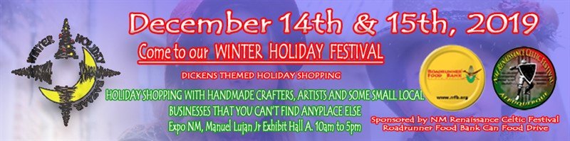 Get Information and buy tickets to Winter Holiday Bazaar Dec 14th & 15th 10am to 5pm Manuel Lujan Jr Expo NM on NM Renaissance Celtic Festival