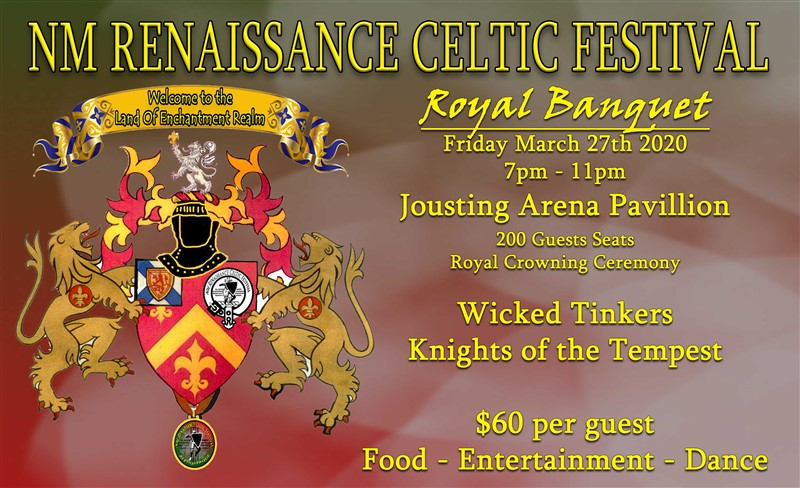Get Information and buy tickets to Royal Banquet - Crowning of the Royals Medieval Dinner -Royalty-Entertainment-Dancing on NM Renaissance Celtic Festival