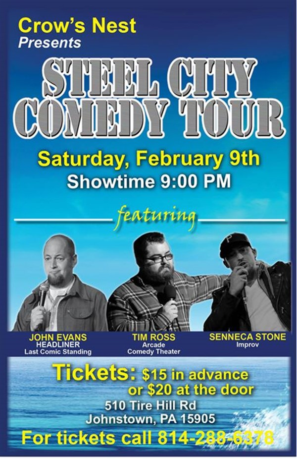 Crow's Nest Steel City Comedy Tour