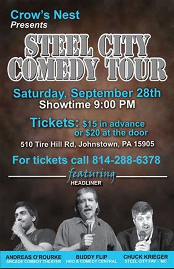 Crows Nest Steel City Comedy Tour