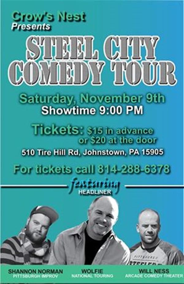 Copy:Crows Nest Steel City Comedy Tour