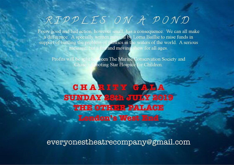 Get Information and buy tickets to RIPPLES ON A POND Musical - raising funds to combat plastic in the ocean. on Everyone's Theatre Company