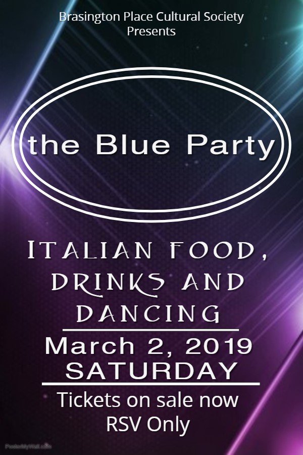 Get Information and buy tickets to Blue Party Grand Opening Gala on Brasington Place Cultural Soc.