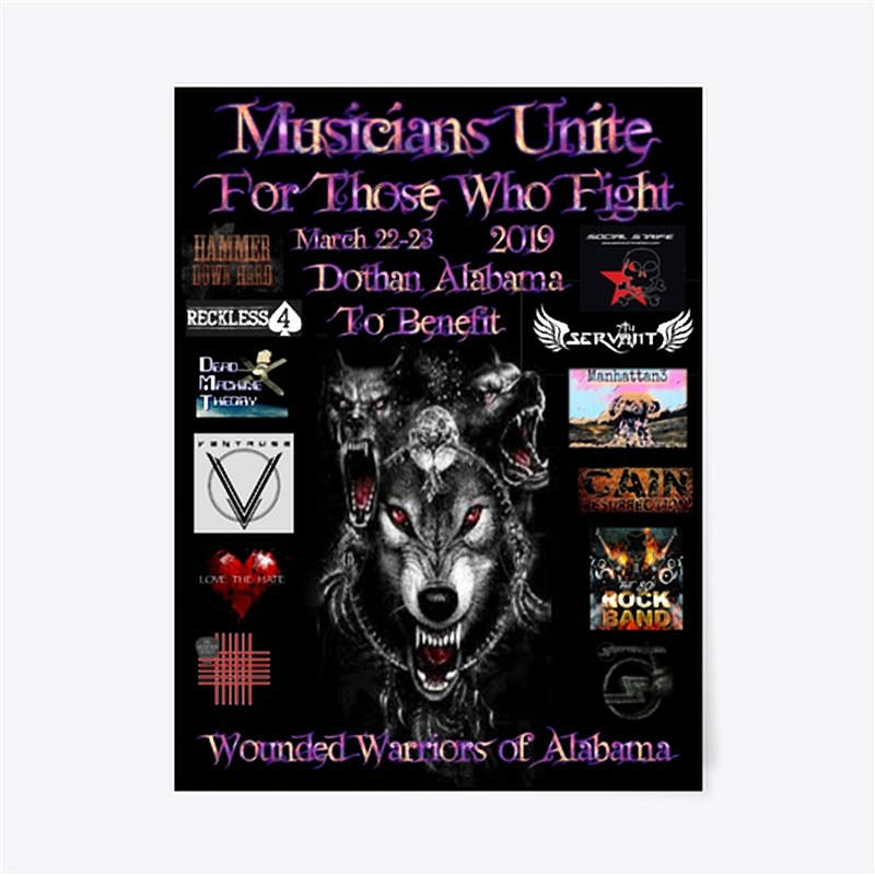 Get Information and buy tickets to Musicians Unite For Those Who Fight To Benefit The Wounded Warriors of Alabama on Musicians Unite For Those Who