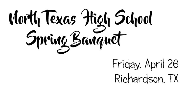 Get Information and buy tickets to North Texas High School Spring Banquet  on North Texas HS Spring Banquet