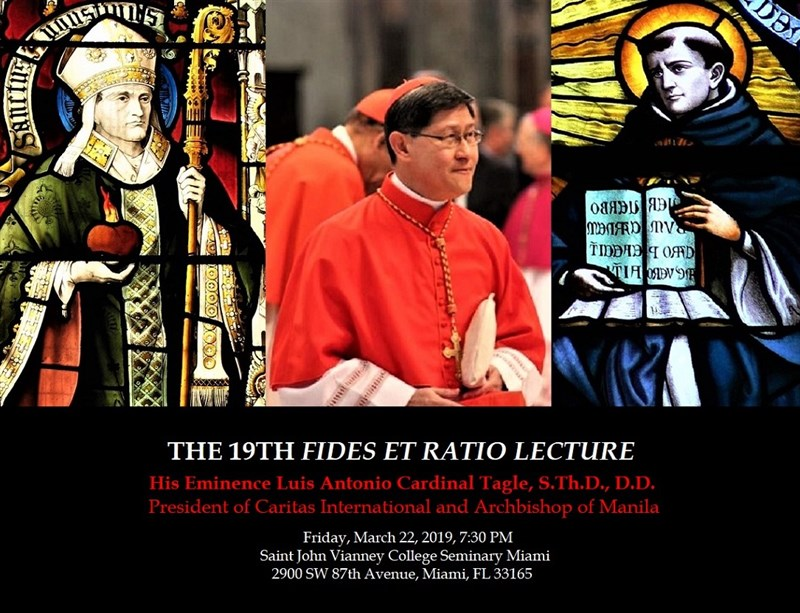 Get Information and buy tickets to The 19th Fides et Ratio Lecture  on St. John Vianney Seminary Miami